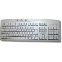 Keyboard for Hebrew - BTC5126 PS2 Ivory