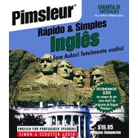 Pimsleur ESL Quick and Simple Portuguese (Brazilian) Speakers Basic (8 lesson) Audio CD