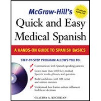 McGrawHill Spanish - Quick and Easy Spanish Medical Dictionary w/Audio CD
