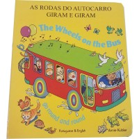 Wheels on the Bus in English & Portuguese (Board Book)