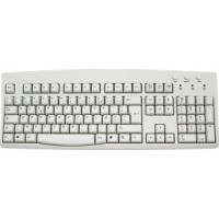 French European Keyboard - Ivory USB/PS2
