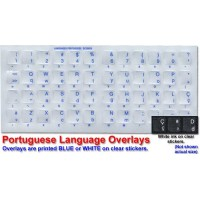 Keyboard Stickers for Portuguese (Brazilian) Blue Letters
