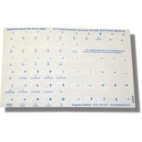 Keyboard Stickers for Central European Languages (blue 2-cards)
