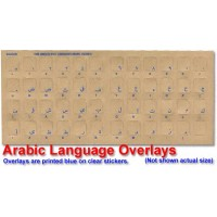 Keyboard Stickers for Arabic (white for black keyboards)