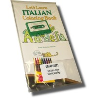 Let's Learn Italian Coloring Book Pack (Book, Cassette, 8 Crayons)