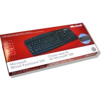 Keyboard for French - MS French Wired Keyboard 500 (PC-PS/2) Black