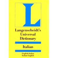 Langenscheidt Universal Dictionary Italian to and from English