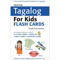 Tagalog for Kids Flash Cards (with Audio CD)