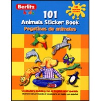 Spanish/English Berlitz Kids 101 Animals Sticker Book