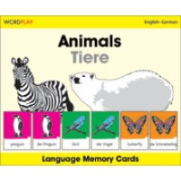 WordPlay Language Memory Cards - Animals (Tiere) (English-German)