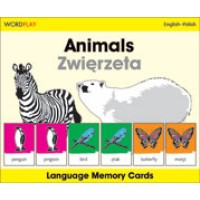 WordPlay Language Memory Cards - Animals (Zwiezeta) (English-Polish)