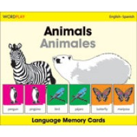 WordPlay Language Memory Cards - Animals (Animales) (English-Spanish)