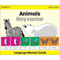 WordPlay Language Memory Cards - Animals (Hayvanlar) (English-Turkish)