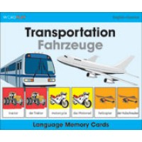 WordPlay Language Memory Cards - Transportation (Fahrzeuge) (English-German)