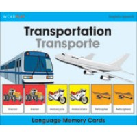 WordPlay Language Memory Cards - Transportation (Transporte) (English-Spanish)