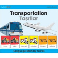 WordPlay Language Memory Cards - Transportation (Tasitlar) (English-Turkish)