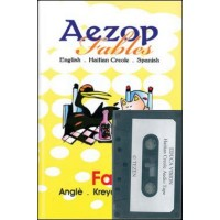 109906Aezop (Aesop's) Fables (book in English, Haitian-Creole & Spanish w audio cassette in Haitian-