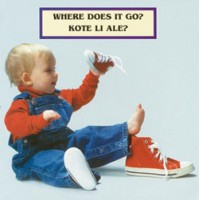 WHERE DOES IT GO? board book in Haitian Creole & English