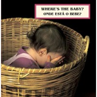 WHERE'S THE BABY? board book in Portuguese & English