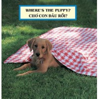 WHERE'S THE PUPPY? board book in Vietnamese & English
