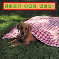 WHERE'S THE PUPPY? board book in Korean Only