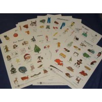Set of 16 Italian Vocabulary Posters (Italian)