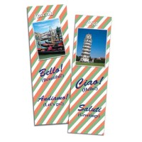 Bilingual Bookmarks in Italian and English - set of 6