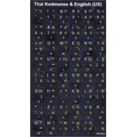 Keyboard Stickers (Black Opaque) for Thai, Kedmanee (Thailand)