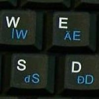 Keyboard Stickers (Black Opaque) for Hungarian
