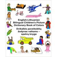 Children's Bilingual Picture Dictionary Book of Colors English-Lithuanian
