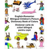 Children's Bilingual Picture Dictionary Book of Colors English-Romanian