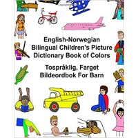 Children's Bilingual Picture Dictionary Book of Colors English-Norwegian
