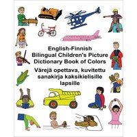 Children's Bilingual Picture Dictionary Book of Colors English-Finnish