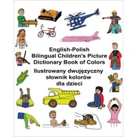 Children's Bilingual Picture Dictionary Book of Colors English-Polish
