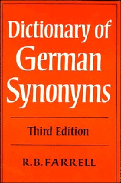 Cambridge German - A Dictionary of German Synonyms