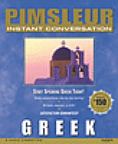 Pimsleur Instant Conversation - Greek Modern (8 Audio CD's)