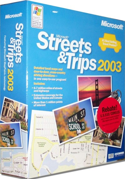 MS Streets & Trips 2003 (US)