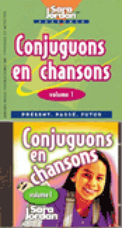 French - Conjuguons en chansons (Audio Tape & Book)