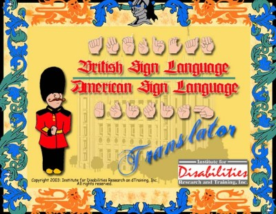 IDRT - British Sign Language/American Sign Language Translator