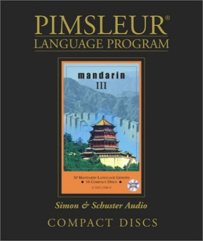 Pimsleur Mandarin Chinese Instant Conversation on 10 CDs