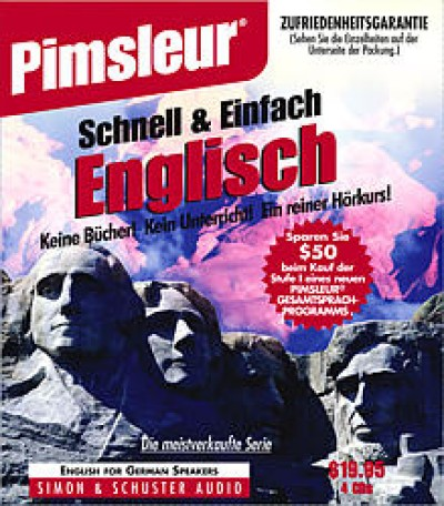 Pimsleur ESL Quick and Simple German Speakers Basic (8 lesson) Audio CD