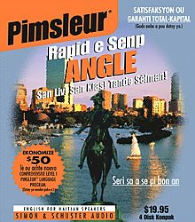 Pimsleur ESL Quick and Simple Haitian Speakers Basic (8 lesson) Audio CD
