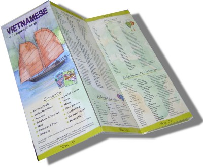 Bilingual Books - Vietnamese a Language Map™ in VIETNAMESE