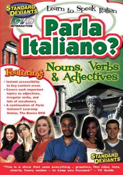 Standard Deviants Italian - Nouns, Verbs & Adjectives on DVD