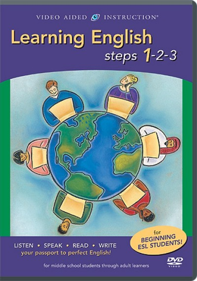 VAI Learning English Steps 1-2-3 DVD Package