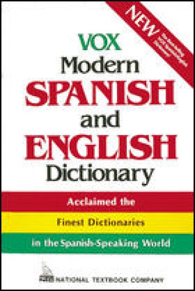 VOX Modern Spanish & English Dictionary (Vinyl cover)