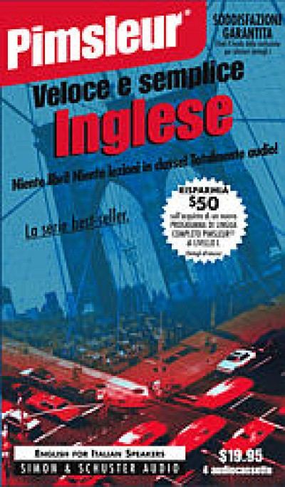 Pimsleur ESL Quick and Simple Italian Speakers Basic (8 lesson) Cassette