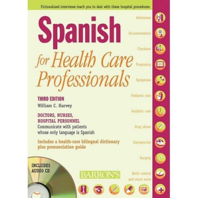 Barrons - Spanish for Health Care Professionals (Book & Audio CDs)