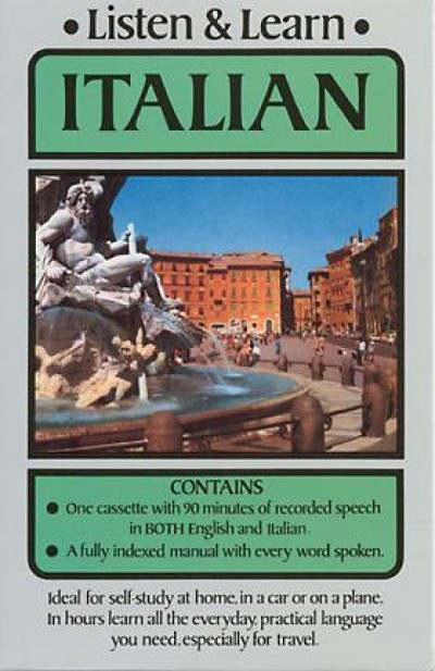 Listen and Learn Italian (Audio Cassette and Book)