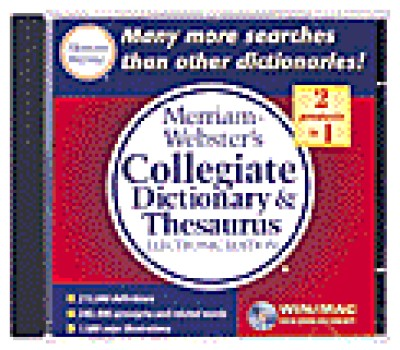 Merriam Webster - Collegiate Dictionary & Thesaurus Eletronic Ed. on (CD-R0M)
